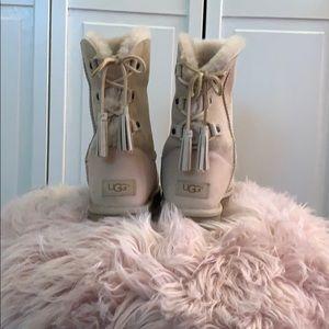 Light pink UGG boots